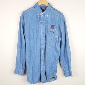 Vintage 90s Planet Hollywood New York Chambray